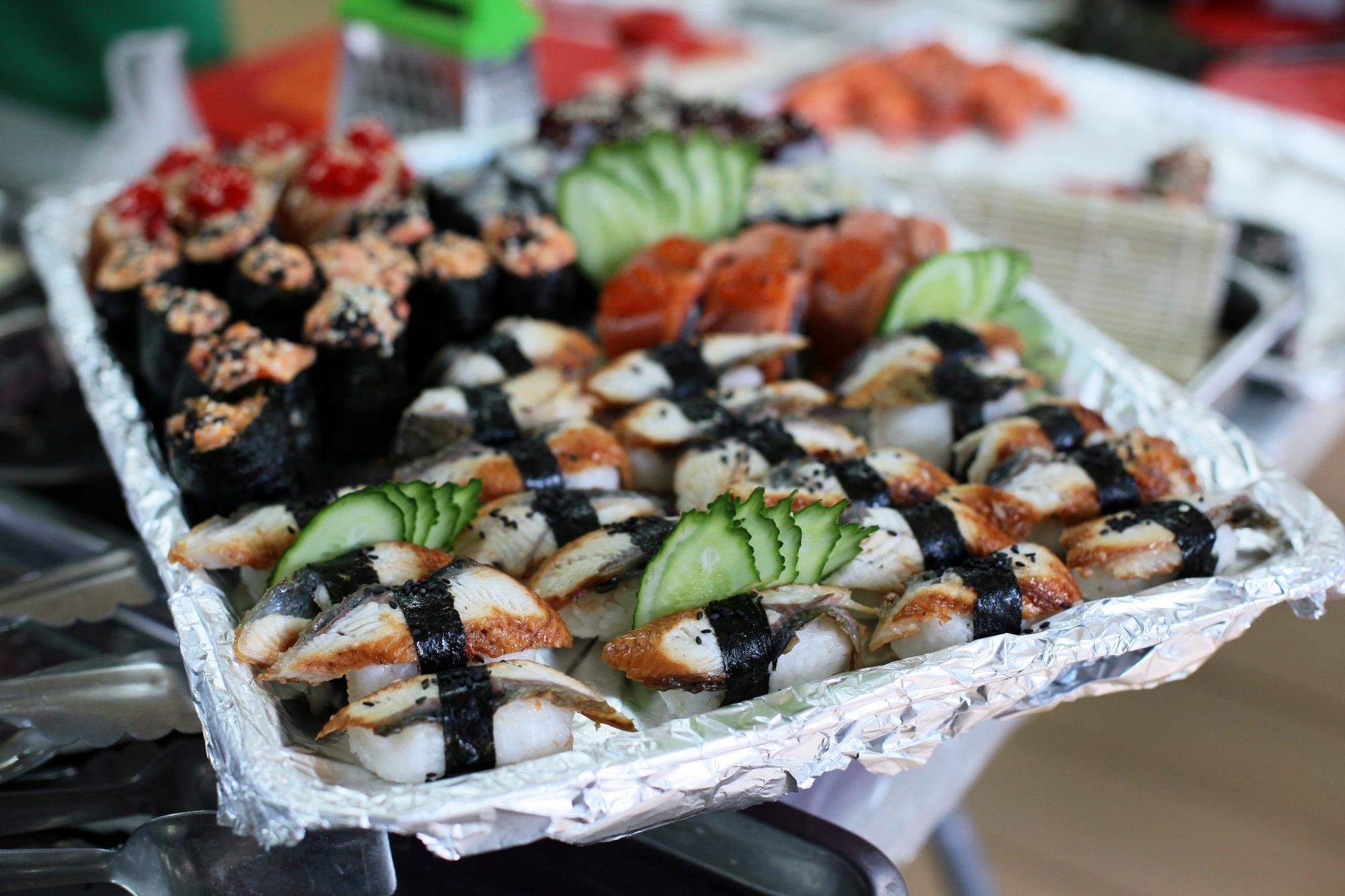 Блюда, приготовленные участниками. Суши