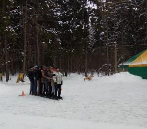 поляна зима лыжи